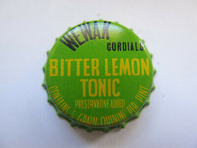 Rare Crown Seal Bottle Cap Wewak  Papua New Guinea Cordials Bitter Lemon Tonic