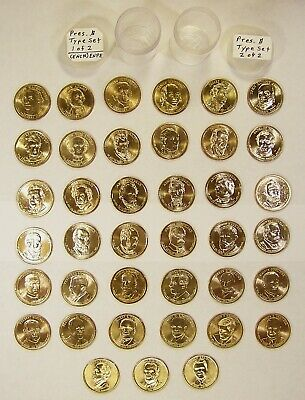Complete Uncirculated Type Set(s) of Presidential Dollar Coins (Mixed MM)