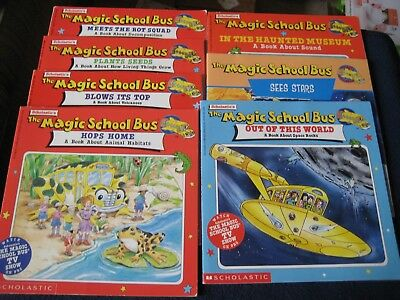 The Magic School Bus Science KIDS Books by Scholastic Set of SEVEN