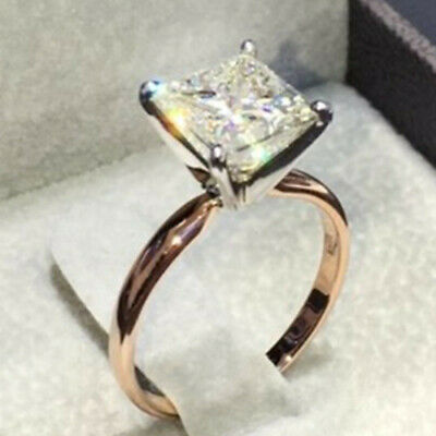 Fashion 925 Silver White Topaz Thin Ring Jewelry Women Engagement Gift Sz 5-10