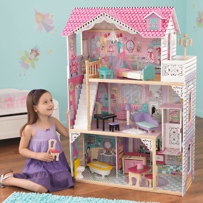 NEW KidKraft Annabelle Dollhouse 17pc Furniture Pretend Play Girls Barbies 65079