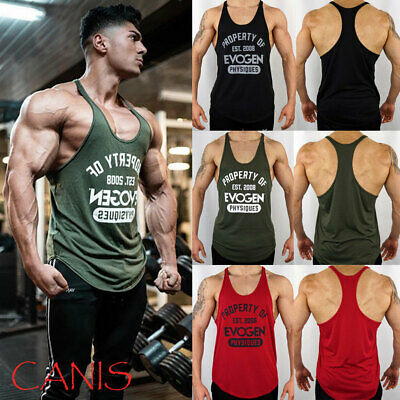 e20c0f4ec5bffa Men Gym Muscle Bodybuilding Sleeveless Shirt Tank Top Singlet Fitness Sport  Vest