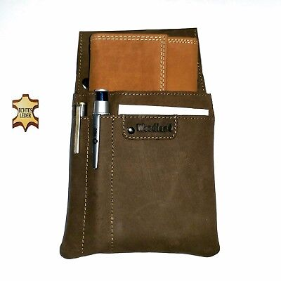 Real Leather Server Set 3-pc Wallet Server Case