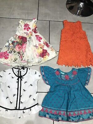 Next & Monsoon Girls Dresses & Top Bundle Age 5 New