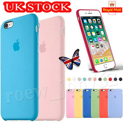 Official Genuine Silicone Rubber Back Cover Case For Apple iPhone 8 7 6s Plus UK