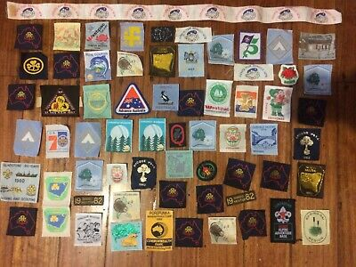 Large Lot Of Vintage Girl Guides & Boy Scouts Patches