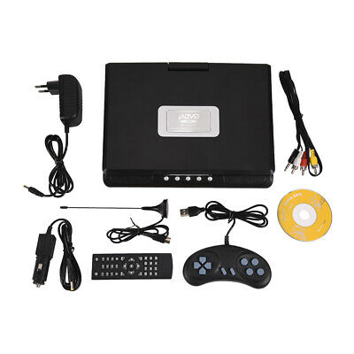 "9"" inch HD TV Portable Rotable DVD Player 16:9 LCD 110-240V 270° Swivel Screen"
