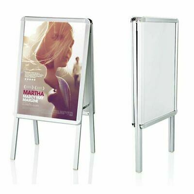 New A2 A-Board Pavement Sign Poster Snap Frame Double Side Sign Display Stand UK