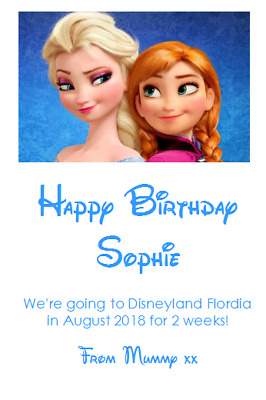 We Are Going To Disneyland Personalised Voucher Card Paris Florida Ticket #7