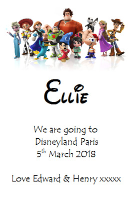 We Are Going To Disneyland Personalised Voucher Card Paris Florida Ticket #3