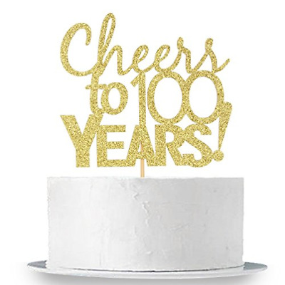 INNORU Cheers To 100 Years Cake Topper