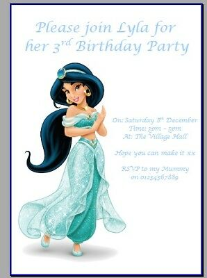 Personalised Paper Card Party Invites Invitations Disney