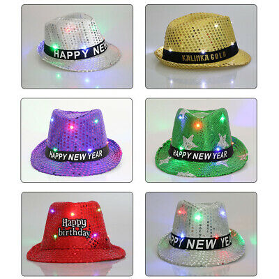 Funny Led Light Knitted Christmas Hat Kids Adults Xmas Decors Party