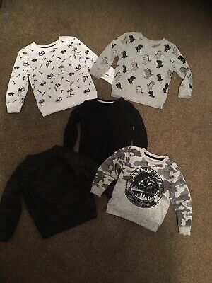 Boys Bundle George Primark 2-3 Jumper Jumpers Camo Dinosaur