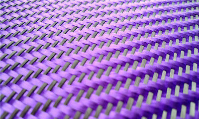 230gsm Aramid Carbon Fiber Blended Fabric Mixed Carbon Cloth Purple with Black