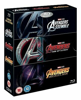 Avengers: 3-movie Collection (BLU-RAY 3 DISC BOX SET) *NEW/SEALED* FREE P&P