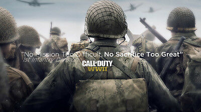 Video Game COD Call Of Duty WWII Poster Wallpaper 24 X 13 inch