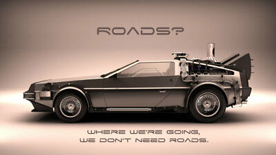 Back to the future  Michael Fox Christopher Silk Poster Wallpaper 24 X 14 inch