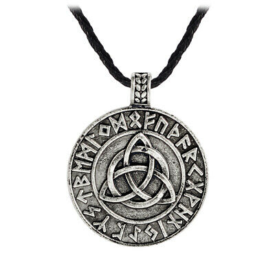 Viking Rune Triangle knot Vintage Ancient Amulet pendant Necklace