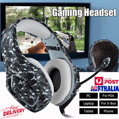 AU Stereo Bass Surround Gaming Headset Headphones For PS4 Xbox One PC with Mic
