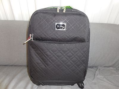 """Vera Bradley Classic Black 22"""" Spinner Suitcase Luggage-New #14387-081 $300 MSRP"""