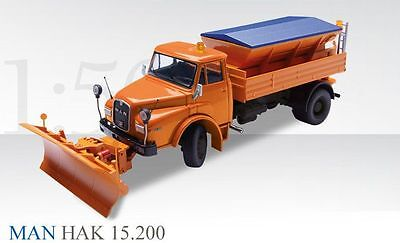 CONRAD 1:50 MAN HAK 19.241 with snowplow 1053/0 BRAND NEW IN A BOX