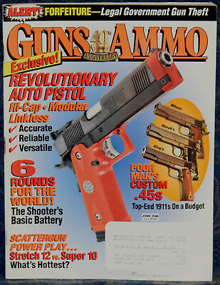 MARCH 1995 GUNS & AMMO MAGAZINE BERETTA M9 9MM vs  357 MAG vs  40