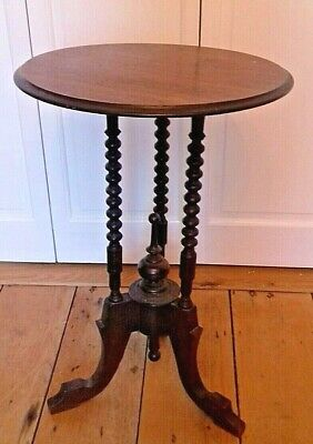 Victorian occasional table for repairs finials,turned bobbin legs,columns carved
