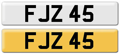 FJZ 45 Cherished Number plate