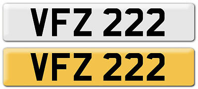 VFZ 222 Cherished Number plate