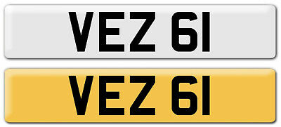 VEZ 61 Cherished Number plate