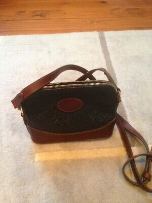 8853f1f18b994 VINTAGE LEATHER MULBERRY Small Cross Body Bag, Scotchgrain Black And Tan