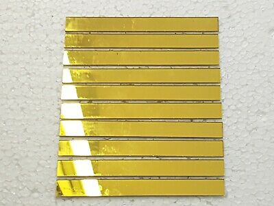 10 pieces, Gold Glass Mirror Tiles, Size 10 x 1 cm, 1 mm Thick. Art&Craft,
