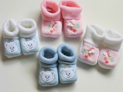 Baby Girl / Boy Soft Booties With Picture 0 - 3 Mths (Approx)