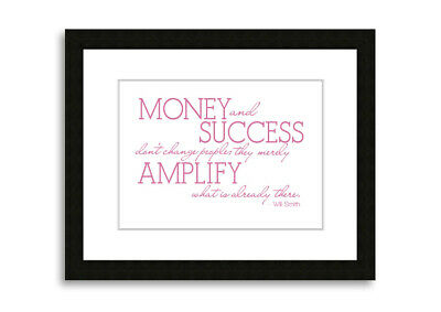 Will Smith Money And Success Pink  09726 Framed Print