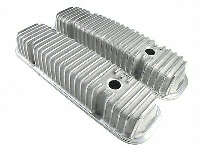 Pontiac Polished Aluminum Finned Valve Covers 326 350 455 Hot Rod Rat Rod V-8