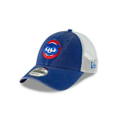 separation shoes ce1ec 5fefd Chicago Cubs New Era 9FORTY MLB Cooperstown Trucker Snapback Hat Mesh Cap  Retro