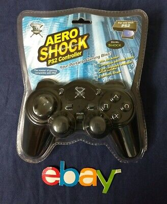 NIP MAXIMO AERO SHOCK PS2 WIRED GAME CONTROLLER Compatible Dual Shock