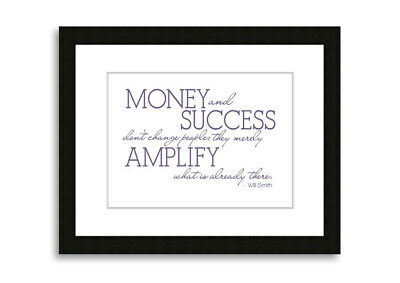 Will Smith Money And Success Lilac  09728 Framed Print