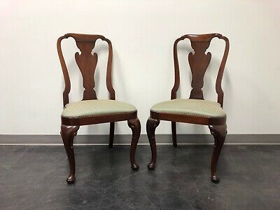 BAKER Historic Charleston Solid Mahogany Queen Anne Dining Side Chairs - Pair 2