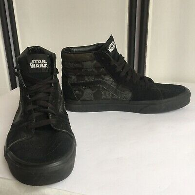 88114630df RARE VANS STAR Wars Black Skate shoes Darth Vader Luke Leia Mens Sz ...