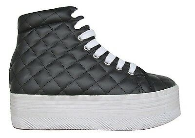 release date 42516 80948 ORIGINALI JEFFREY CAMPBELL JC PLAY HOMG QUILTED Sneakers NERE SCARPE DONNA