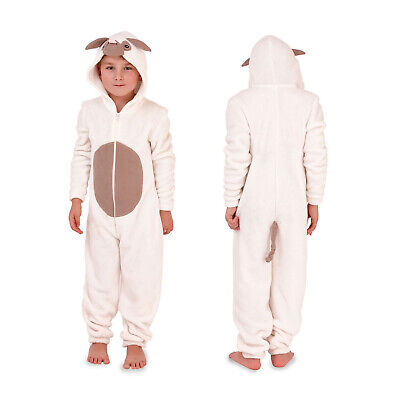 Nifty Kids Novelty Animal All In One New Childrens Luxury Soft Fleece Sleepsuit