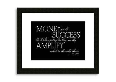 Will Smith Money And Success Bedroom Prints 09725 Framed Print