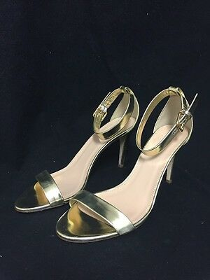 df6f38c8f6d J.Crew Mirror Metallic High Heel Sandals in Gold Size 9  198 A0389 Ankle  Strap