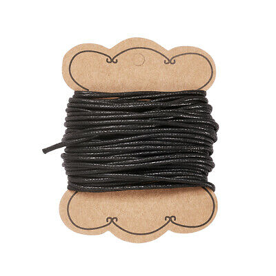 10m/roll Black Cotton Wax Cord Macrame String Linen Thread 2mm Leathercraft