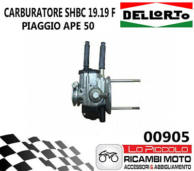 Ape Euro2 50Cc 2003 - 2010 Carburatore Shbc 19 19 F Dell'orto Con Mix - 0905