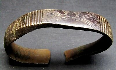 Ancient Bronze VIKING Bracelet.Сleared. (7.1). Crack.