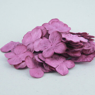 Two Tone Pink And Cream Hydrangea Paper Flowers Crafts Card Making Pbc182
