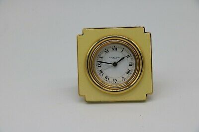 CARTIER Travel/Desk Alarm Clock, Original Box & Papers Must de Cartier Working
